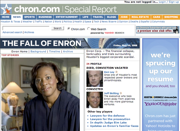 the fall of enron the lack Editorial on rise and fall of energy company enron their scope and lack of transparency suggest that enron may have in effect created its own.